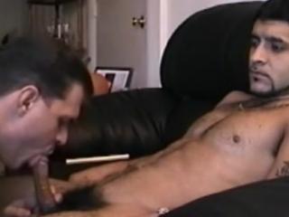 Horny Latino jock gets his boner sucked