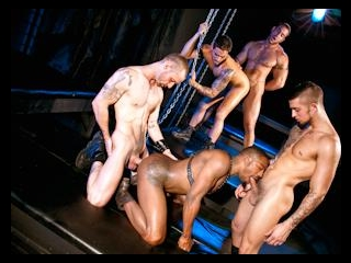 Fucked Down - Five Man Orgy Part 02