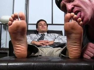 New Boss Julio Foot Worshiped
