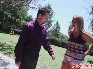 Bigtitted teen pounded by her dads friend