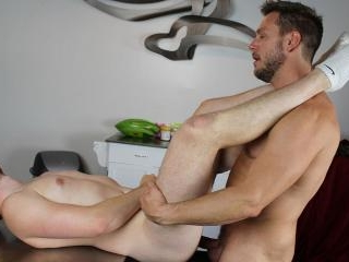 HANS STUFFS NATHAN\'S MEATY ASS ON THE KITCHEN FLOO