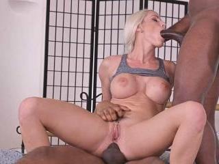 Well-Endowed Czech Blonde Blanche Bradburry Gets 2