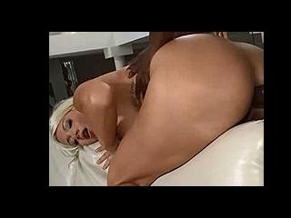Curvy blonde pornstar asshole slammed by BBC