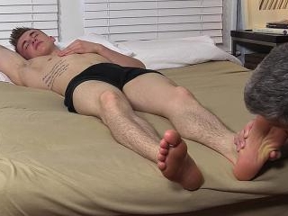 Jake West\'s Size 10 Feet Worshiped While He Sleeps
