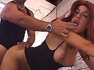Redhead Sydney Gets Her Fuck On In Damon\'s Garage