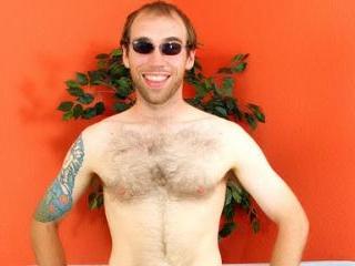 Naughty gay bear strips on webcam