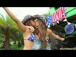Busty Broads Dillion and Maria celebrate the 4th o