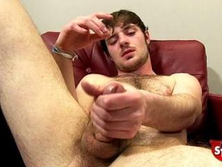 Robert Jerks off his big cock