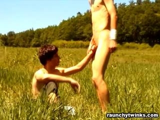 Dusan & Michal Oral Pleasure Outdoors