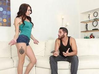 Megan Sage Walks Into Her Stepbrother Masturbating