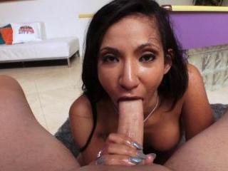 Leggy Latina Sadie Santana Is A Sucker For Big Dic
