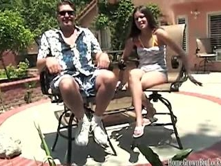 Ashley Belle has fun Outdoors