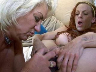 Busty Matures Lesbian Teasing