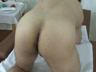 Explicit butt examination