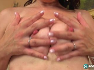 Wide open, deep-fingered, very wet MILF pussy