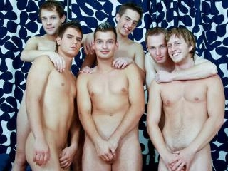 Gay Hunks All Out Orgy