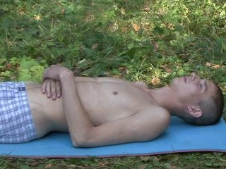 Rough bdsm spanking by the woods