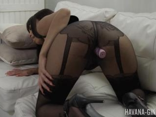 Latina Star Havana Ginger with a toy in Her Pussy