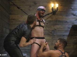 Tall Stud Hunter Samson Tormented with Rope Bondag