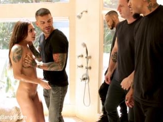 Anal Slut Kacie Castle Gang Fucked & Bound by Vora