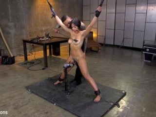 New Slut Kendra Spade Bound in Rope, Anally Fucked