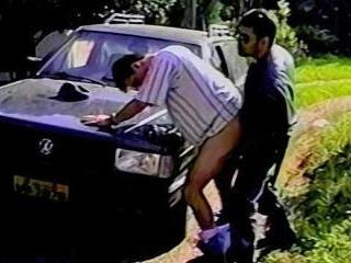 Latino Cop Fucks Stopped Driver - Carlos Zani & Jo