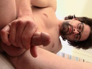 Pissing & Pumping Fresh Cum - Mickey Waters