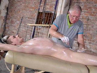 Shaved & Stroked To A Gushing Load - Darren Cross