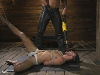 Horny Sub is Tormented With the Fucksaw and Hot Wa