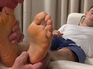 Napping KC\'s Feet Worshiped