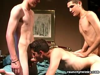 Super hot twink threesome