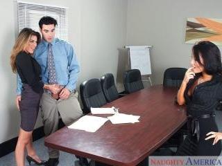Naughty Office - Asa Akira & Kayla Paige & Charles