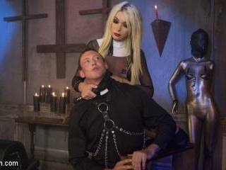 Sister Aubrey Kate Punishes Priest Pierce Paris