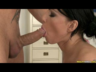 Samantha sucks cock  gets pounded Doggystyle  and