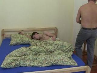 Rude awakening for cute gay