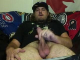 Horny jock masturbates in private show
