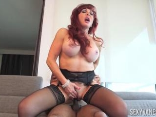 Sexy Vanessa Rides The Black Cock