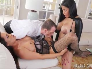 Havana Ginger Pegs T-Girl While Guy Sucks T-Girls