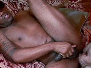 Muscled Black Guy Goes Bottom
