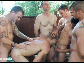 Logan Stevens: Big Cock Stud Humiliated & Gang Fuc