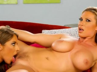 Babes Devon and Presley engage in lesbian sex