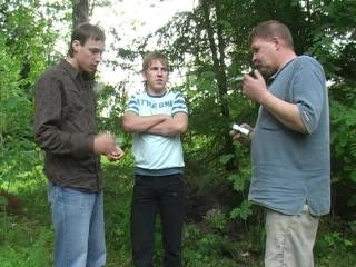 Outdoor gay oral session