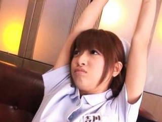 Yua Yoshikawa Pretty nurse enjoys vibrator on her
