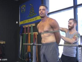 Tony Shore, Tied Up and Edged at the Gym