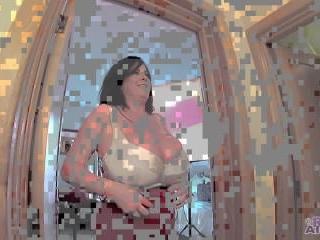 Rachel Aldana - Red Tank Top And White Bra GoPro 1