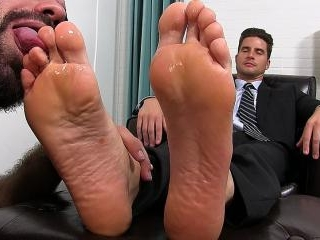 Suited Sergey\'s Sheer Socks Serviced
