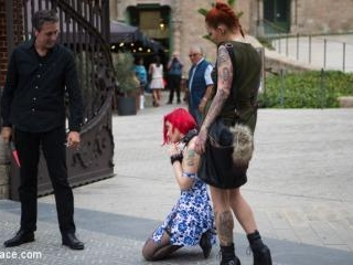 Petite Natural Whore Shamed in Public and Gang Fuc