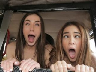 Cheeky Spanish Lesbians Fuck Cabbie