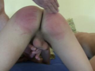 Racy and wild spanking for twinks