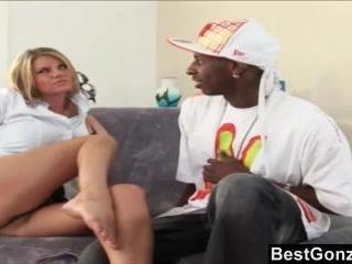 Kayla la can\'t resist a young dude\'s big dick